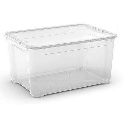 Immagine di Contenitore con coperchio, T Box, trasparente, 55x39x28,5 cm