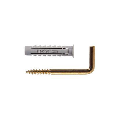 Immagine di Tassello in nylon, con gancio, S 4 GK, 10 pezzi