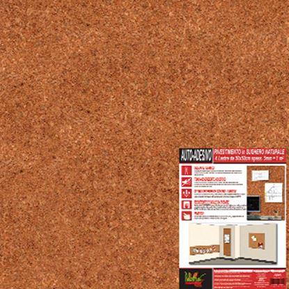 Immagine di Rivestimento in sughero naturale, 50x50x0,4 cm, confezione 4 lastre da 1 m²