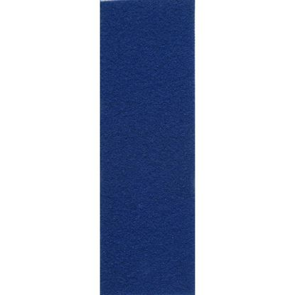 Immagine di Pavimento tessile Stand 227, agugliato piatto, in polipropilene, fondo resinato, spessore 2,7 mm, h 2 mt, colore blu