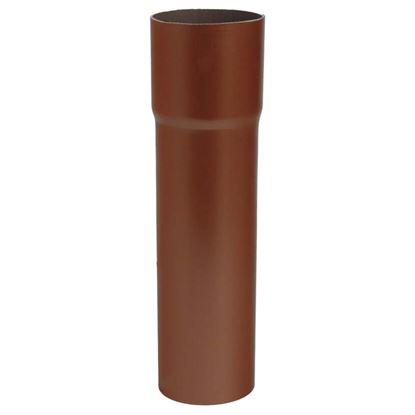 Immagine di Tubo Tecno Imac, discendente, colore rame rosso, Ø 80 mm, 307 cm