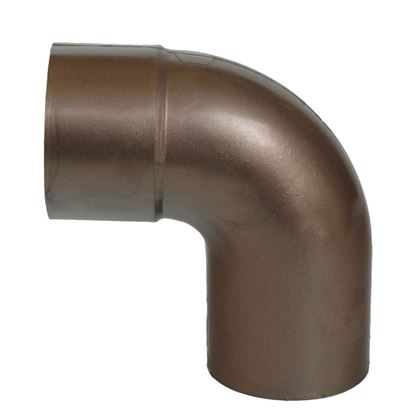 Immagine di Curva Tecno Imac, per tubo discendente, colore marrone, Ø 80 mm, 87°
