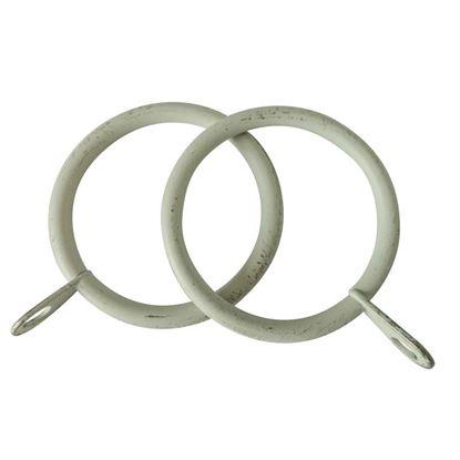 Immagine di Anelli ferro, Easy Basico, con asola, Ø 32 mm, 10 pezzi, colore avorio/oro