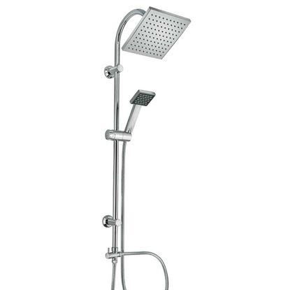 Immagine di Colonna doccia, Happy, soffione 20x20 cm, doccia monogetto, colore cromo