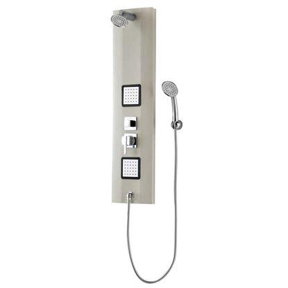 Immagine di Pannello doccia, Easy Idro, con doccia e soffione 2 bodyjet, colore avorio