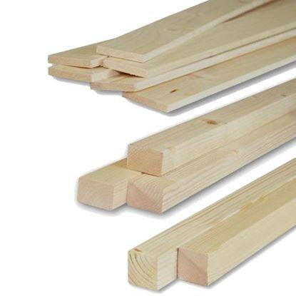 Immagine di Listelli abete,  piallati su 4 lati, 45x45x2000 mm