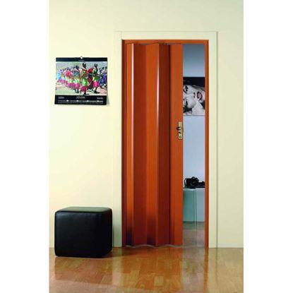 Immagine di Porta a soffietto, con serratura, 83xh214 cm, colore legno scuro