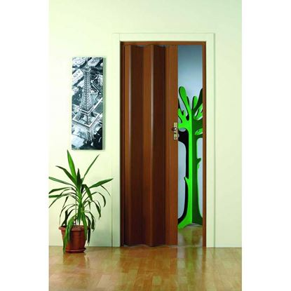 Immagine di Porta a soffietto, con serratura, 83xh214 cm, colore bianco frassino