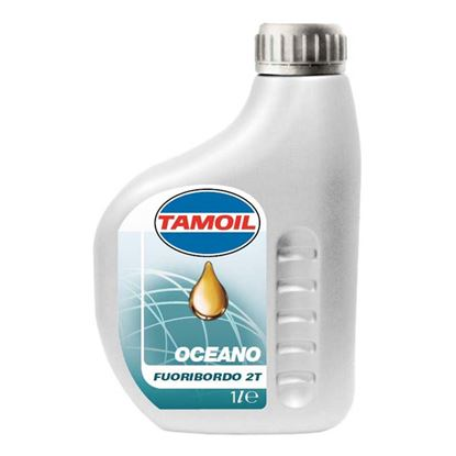 Immagine di Olio Tamoil, Oceano 2T, nautica, lubrificante minerale, speciale per motori fuoribordo a 2 tempi, 1 lt