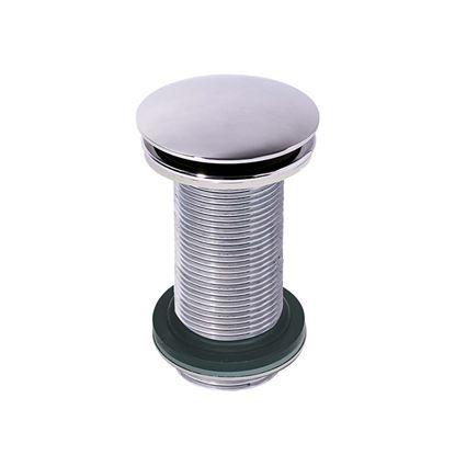Immagine di Piletta lavabo quick-clack Wirquin, tonda, altezza 100 mm, con troppo pieno