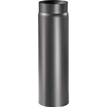 Immagine di Tubo per stufa a legna spessore 2 mm, colore nero, 50 cm, Ø120 mm