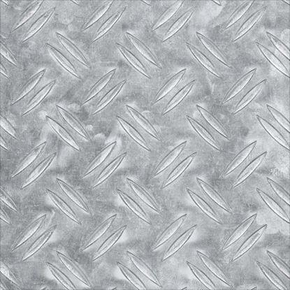 Immagine di Lamiera mandorlata, alluminio naturale, 120x1000x2 mm