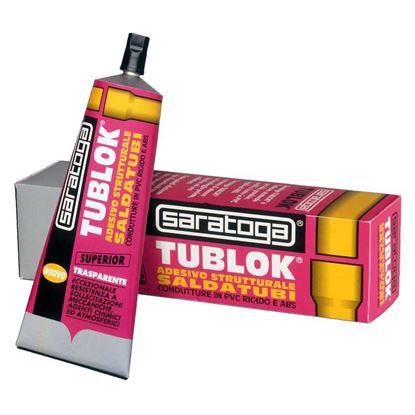 Immagine di Adesivo Saratoga, Tublok, per tubi, grondaie, profili e lastre in PVC rigido e ABS, 125 gr