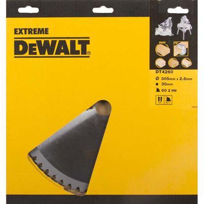 Immagine di Lama DeWalt, per banco sega, 80 denti, forma dente TGC con angolo -5°, spessore 3,0 mm, foro lama Ø 30 mm, lama Ø 305 mm