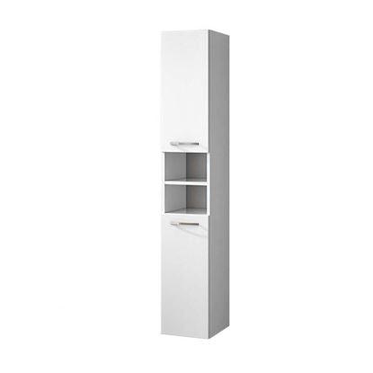 Immagine di Colonna sospesa, Giò, 2 ante reversibili, colore laccato lucido bianco, 30x34xh175 cm