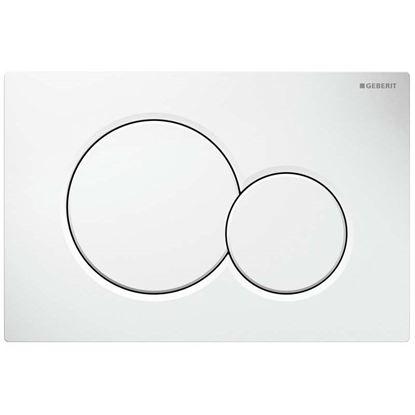 Immagine di Placca Geberit, Sigma01, 2 pulsanti, colore bianco