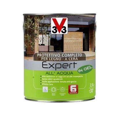 Immagine di Protettivo all'acqua V33, Expert, per legno, in gel, decora ed impermeabilizza il legno, 2,5 lt, incolore