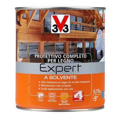 Immagine di Protettivo a solvente V33, Expert, per legno, protegge il legno da muffe e agenti deterioranti, 0,75 lt, noce scuro