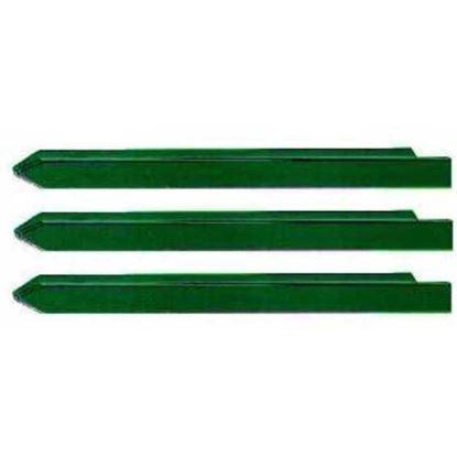 Immagine di Paletto plasticato verde, 30x30x3,0xh1250 mm