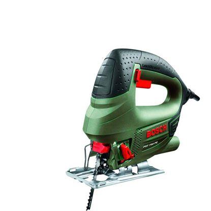Immagine di Seghetto alternativo PST750PE, 530 W, velocità 3000 corse/min, taglio legno 75 mm-acc.5 mm-allum.12 mm, valigetta, 3 kg