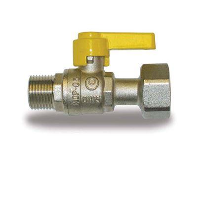 """Immagine di Rubinetto gas, IVR, dritto, con dado girevole, MF 1/2""""x1/2"""""""