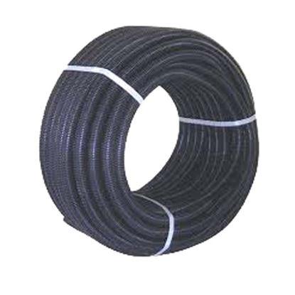 Immagine di Tubo corrugato, colore nero, senza tirafilo, bobina 25 mt, Ø 25 mm