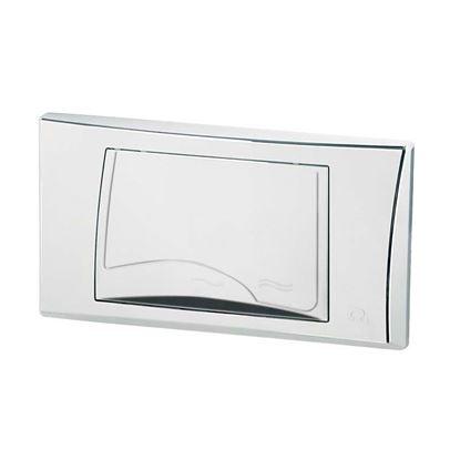 Immagine di Placca bianca CR, Fusion, due tasti per cassetta incasso