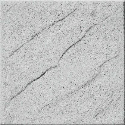 Immagine di Pavimento martellinato con bisello, da esterno, 40x40 cm, colore onda grigio