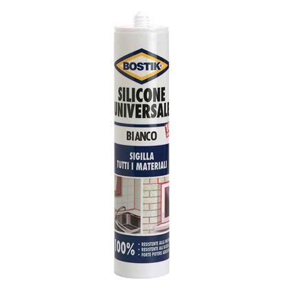 Immagine di Silicone Bostik Sil-Universale, resistente alle muffe e ai detersivi, 280 ml, bianco