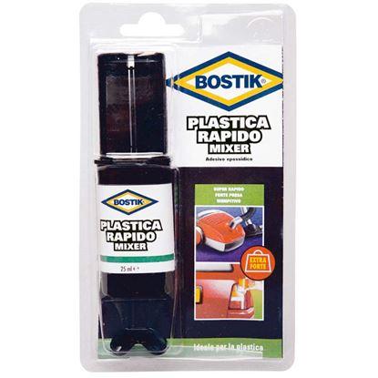 Immagine di Adesivo Bostik Plastica Rapido Mixer, x riparare e saldare plastica a se stessa e ad altri materiali, 25 ml