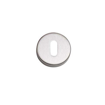 Immagine di Bocchetta foro patent Ghidini, argento satinato, 2 pezzi