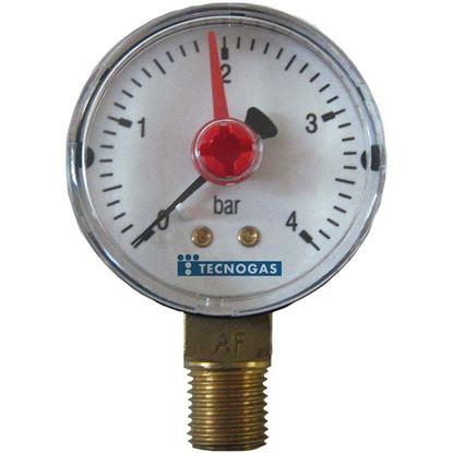 Immagine di Manometro Ispesl, 10 bar, Ø 63 mm, 1/4'', radiale