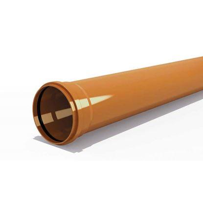 Immagine di Tubo PVC, per fognature e scarichi interrati, SN 4, UNI - EN 1401, IIP, Ø200 mm, spessore 4,90 mm