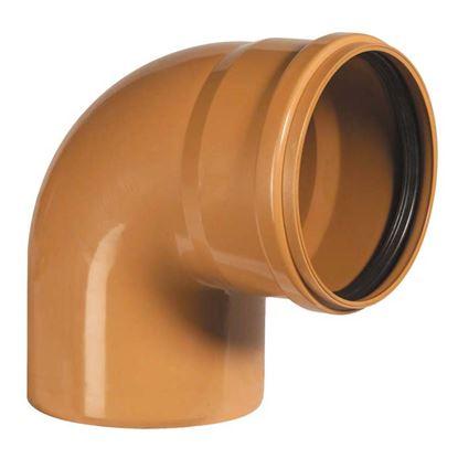 Immagine di Curva 90° PVC, per fognature e scarichi interrati, SN 4, EN 1401, Ø250 mm, spessore 6,2 mm
