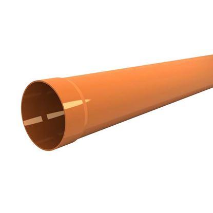 Immagine di Tubo in PVC, per scarichi civili ed industriali F/N, colore arancio, Ø mm 80x1 mt
