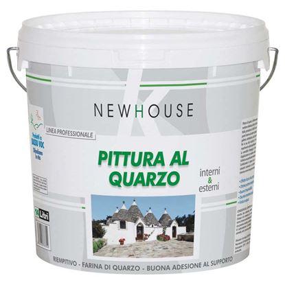 Immagine di Pittura al quarzo New House, finitura opaca, per interno ed esterno, resa 80/110 m² con 1 latta, 14 lt, colore bianco