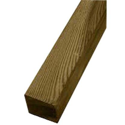 Immagine di Palo quadrato Twig, con punta diamante, per sostegno recinzioni, 7x7xh150 cm, in pino continentale impregnato,