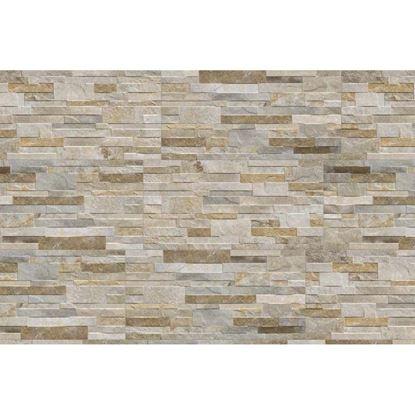 Immagine di Placchetta Granito, gres porcellanato, confezione da 1,35 m², 31x62 cm, colore grigio