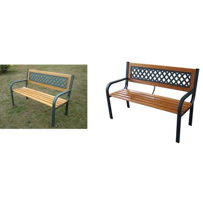 Immagine di Panchina 2 posti legno/ghisa  cm.118x52xh.75