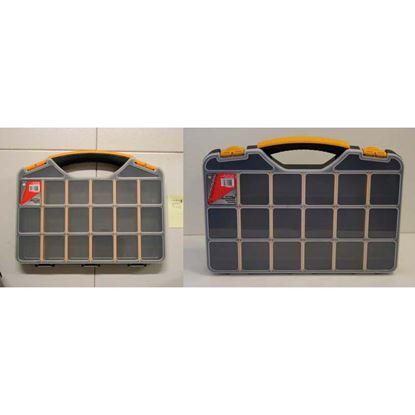 Immagine di Valigetta organizer Mayota, coperchio trasparente, 32,6x25,7xh4,8 cm