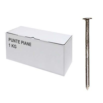 Immagine di Punte piane, scatola trasparente, 1 kg, 18x80 mm