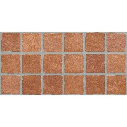 Immagine di Placchetta moda pavè 31x62 cm, gres porcellanato, confezione 1,35 m², colore rosso
