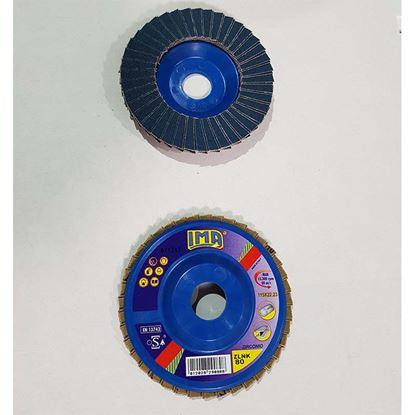 Immagine di Disco lamellare abrasivo per acciao, zirconio, Ø115 mm, grana 80