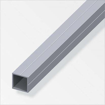 Immagine di Tubo quadrato, alluminio naturale, 2,50 mt, 11,5x1,5 mm