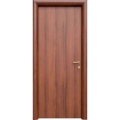 Immagine di Porta mara noce nazionale, telaio piatto, reversibile, accessori ottone lucido verniciato, 78x214 cm