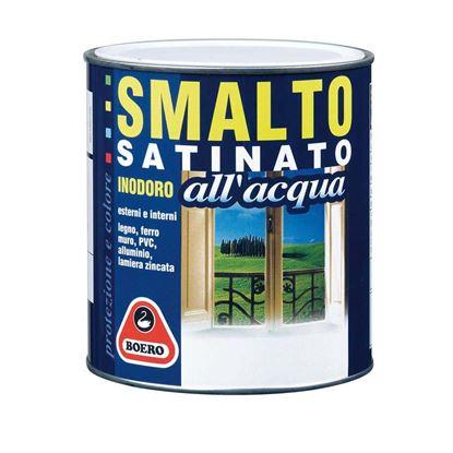 Immagine di Smalto satinato all'acqua, HACCP, inodore, facile applicazione, per interno ed esterno, rapida essicazione, 750 ml