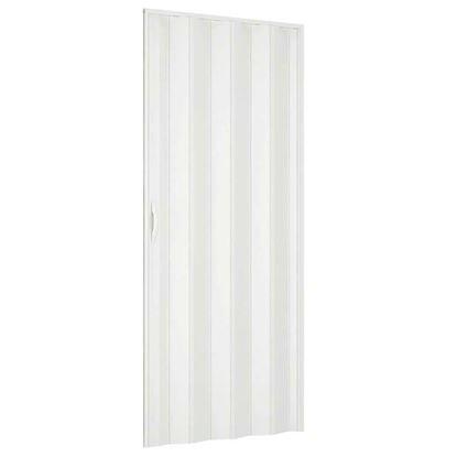 Immagine di Porta a soffietto, 83xh210 cm, colore Bianco Pastello