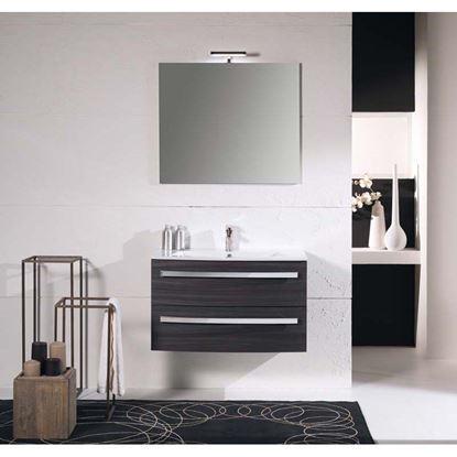 Immagine di Base sospesa oscar, porta lavabo, 2 cassettoni, 84,5x44xh50 cm, colore palissandro