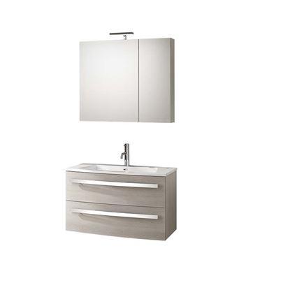 Immagine di Base sospesa oscar, porta lavabo, 2 cassettoni, 84,5x44xh50 cm, colore larice