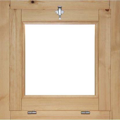 Immagine di Finestra in legno pino massiccio 1 anta vasistas, doppio vetro antisfondamento, 60xh60 cm